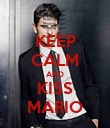 KEEP CALM AND KISS MARIO - Personalised Poster large