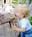 KEEP CALM AND KISS THE PIG - Personalised Poster large