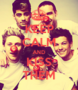 KEEP CALM AND KISS THEM - Personalised Poster large