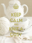 KEEP CALM AND KNIT A COSY - Personalised Poster large