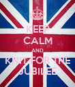 KEEP CALM AND KNIT FOR THE JUBILEE - Personalised Poster large