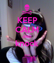 KEEP CALM AND knock ... - Personalised Poster large