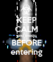 KEEP CALM and knock BEFORE entering - Personalised Poster large