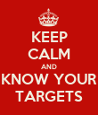 KEEP CALM AND KNOW YOUR TARGETS - Personalised Poster large