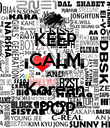 """KEEP CALM AND """"Korean""""  """"POP"""" - Personalised Poster large"""