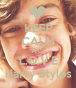 KEEP CALM AND L.O.V.E Harry Styles - Personalised Poster large