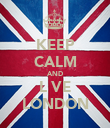 KEEP CALM AND L♥VE LONDON - Personalised Poster large