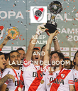 KEEP CALM AND LA LEGIÓN DEL BOOM RIVER PLATE !! - Personalised Poster large