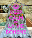 KEEP CALM AND LA VIE BOHEME - Personalised Poster large