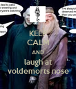 KEEP CALM AND laugh at voldemorts nose - Personalised Poster large