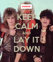 KEEP CALM AND LAY IT DOWN - Personalised Poster large
