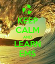KEEP CALM AND LEARN EMS - Personalised Poster large