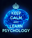 KEEP CALM AND LEARN PSYCHOLOGY - Personalised Poster large