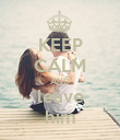 KEEP CALM AND leave him - Personalised Poster large