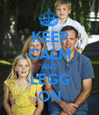 KEEP CALM AND LEGG ON - Personalised Poster large