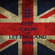 KEEP CALM AND LET ENGLAND WIN - Personalised Poster large