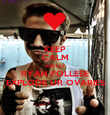 KEEP CALM AND LET RYAN FOLLESE EXPLODE UR OVARIES - Personalised Poster large