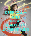 KEEP CALM AND LET'S GET READY FOR ZUMBA® KIDS - Personalised Poster large