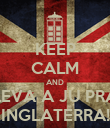 KEEP CALM AND LEVA A JU PRA INGLATERRA! - Personalised Poster large