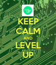 KEEP CALM AND LEVEL UP - Personalised Poster large