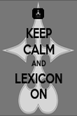 KEEP CALM AND LEXICON ON - Personalised Poster large