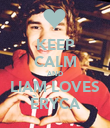 KEEP CALM AND LIAM LOVES ÈRYCA - Personalised Poster large