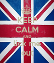 KEEP CALM AND lick me out - Personalised Poster large