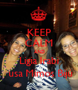 KEEP CALM AND Ligia Irabi  usa Mimos Bijú - Personalised Large Wall Decal