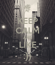 KEEP CALM AND LIKE :)) - Personalised Poster large