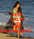 KEEP CALM AND LIKE #aboutmyidol's.ϟ - Personalised Poster large