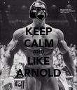 KEEP CALM AND LIKE ARNOLD - Personalised Poster large