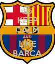 KEEP CALM AND LIKE BARCA - Personalised Poster large