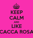 KEEP CALM AND LIKE CACCA ROSA - Personalised Poster large
