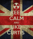 KEEP CALM AND LIKE  CURTIS  - Personalised Poster large