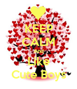 KEEP CALM And Like Cute Boys - Personalised Poster large