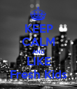 KEEP CALM AND LIKE Fresh Kids - Personalised Poster large
