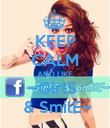 KEEP CALM AND LIKE ~GirlS   & SmilE~ - Personalised Poster large