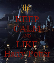KEEP CALM AND  LIKE Harry Potter - Personalised Poster large