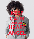 KEEP CALM AND LIKE HEART ANGEL - Personalised Poster large
