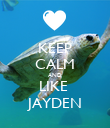 KEEP CALM AND LIKE  JAYDEN - Personalised Poster large