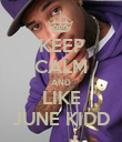 KEEP CALM AND LIKE JUNE KIDD - Personalised Poster large