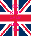KEEP CALM AND LIKE  ME - Personalised Poster large