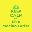 KEEP CALM AND Like Mocian Larisa - Personalised Poster large