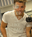 KEEP CALM and LIKE MY PAGE  - Personalised Poster large