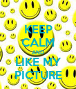 KEEP CALM AND LIKE MY PICTURE - Personalised Poster large