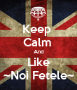 Keep  Calm  And Like ~Noi Fetele~ - Personalised Poster large