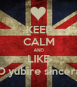 KEEP CALM AND LIKE →O yubire sincera← - Personalised Poster large