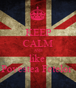 KEEP CALM AND like  Povestea Fetelor  - Personalised Poster large