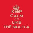 KEEP CALM AND LIKE THE NULIYA - Personalised Poster large