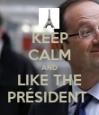KEEP CALM AND LIKE THE PRÉSIDENT  - Personalised Poster large